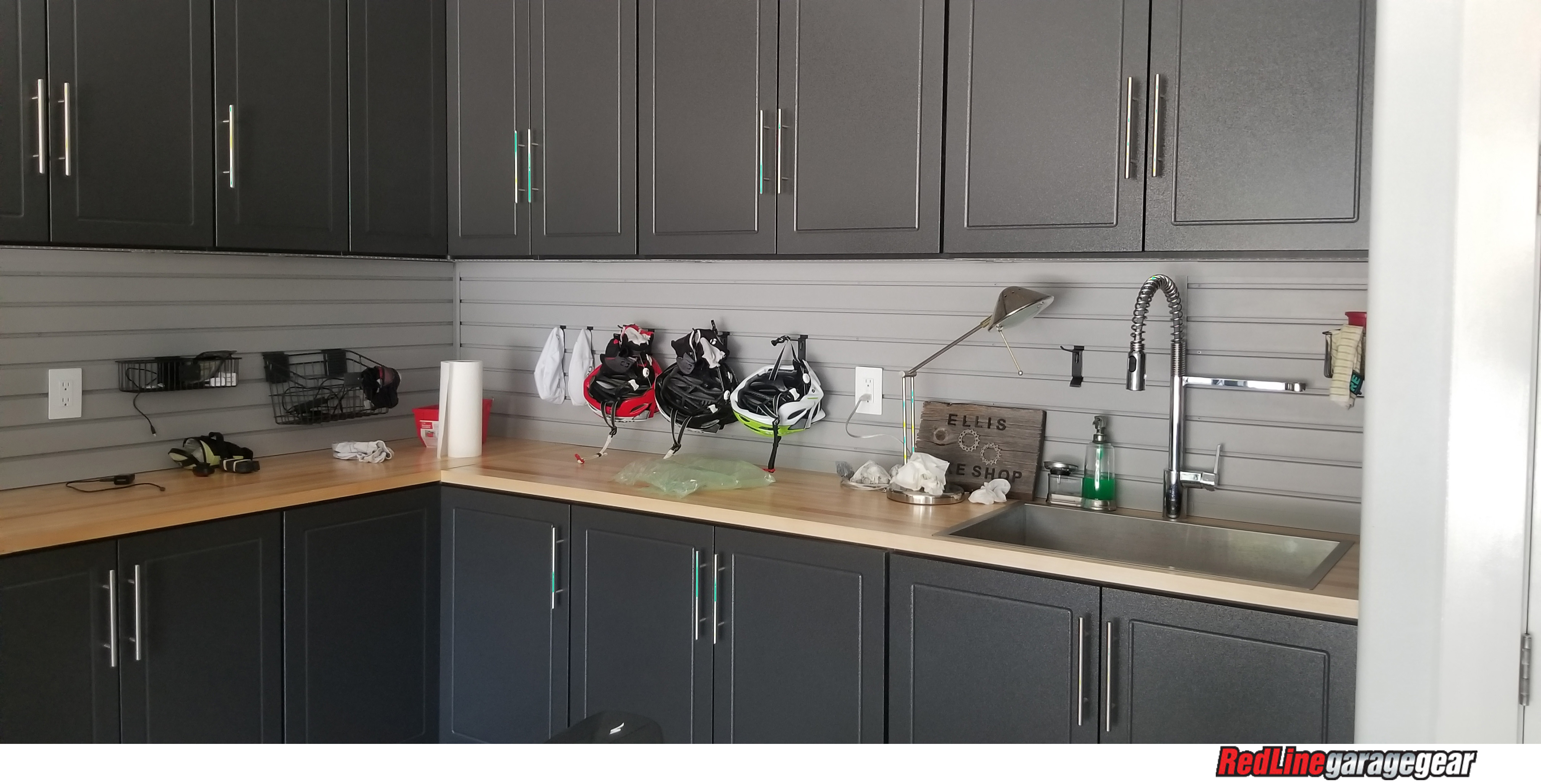 garage cabinets with workbench